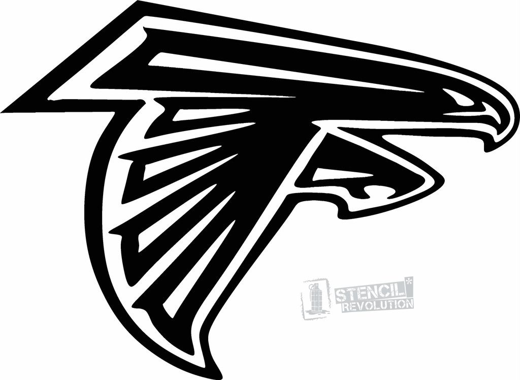 Georgia State Stencil Atlanta Falcons Logo Atlanta Falcons Decal Atlanta Falcons Vinyl
