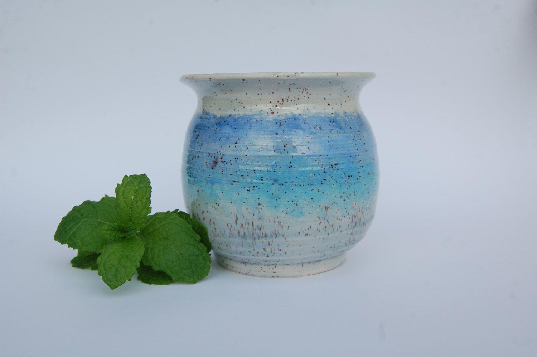 Utensil Holder | Kitchen Utensil Holder Blue Kitchenware Pottery ...