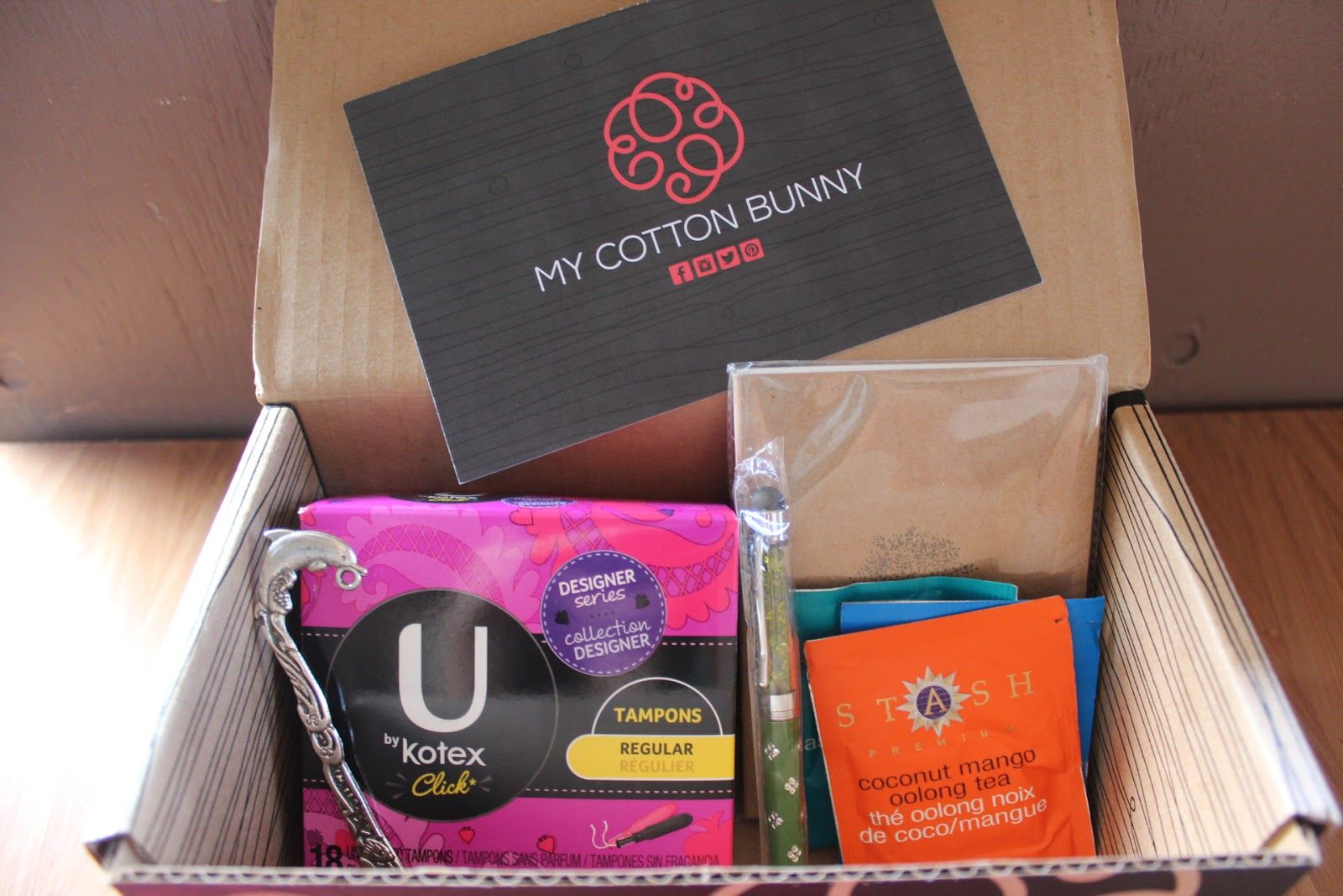 period subscription box My Cotton Bunny August 2013