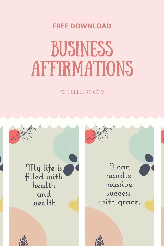 Printable Business Affirmation Cards Affirmations Affirmation Cards Branding Your Business