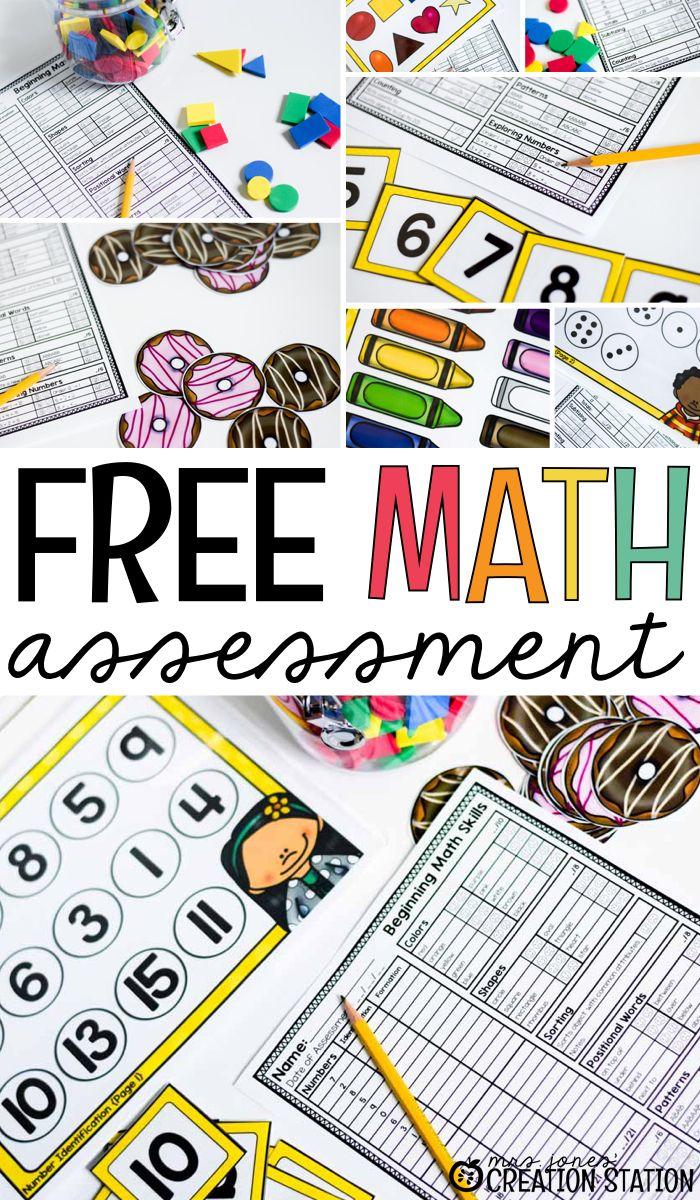 Beginning Math Assessment Mrs Jones Creation Station Math Assessment Kindergarten Math Assessment Beginning Math