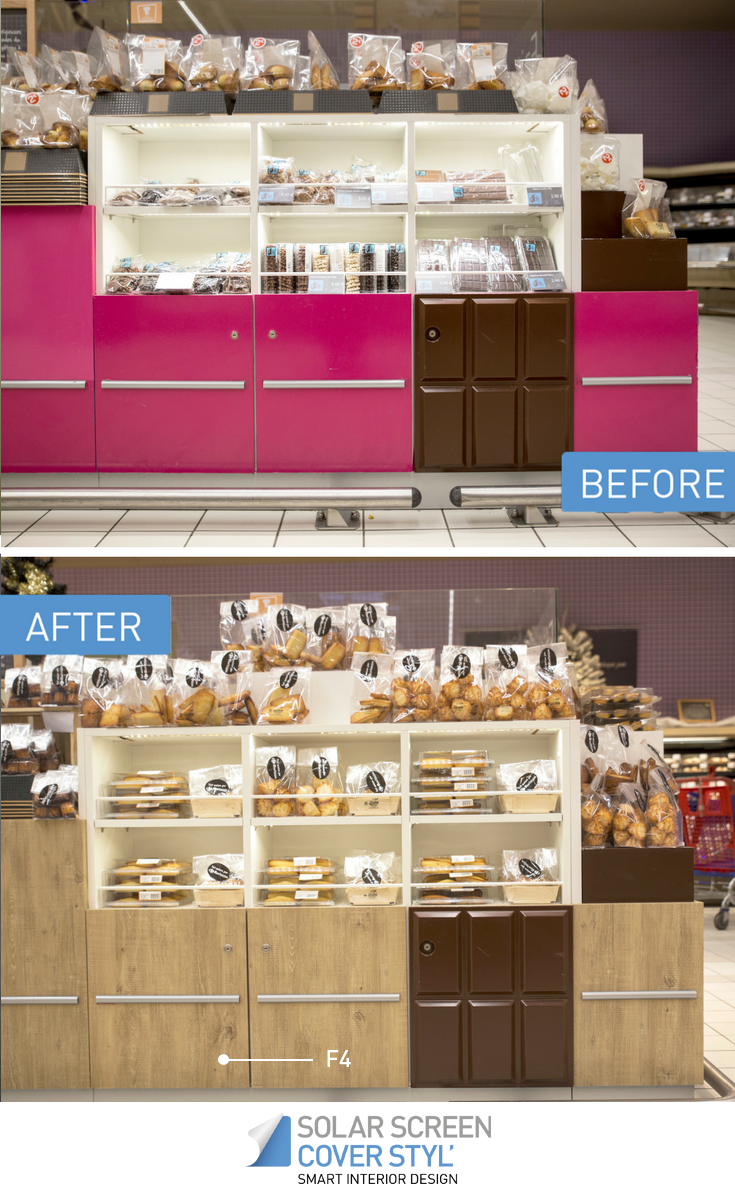 Before And After Pictures Of What Your Product Display Could Look Like With Cover Styl Self Adhesive Vinyl Films With Cover Styl Your Renovatio Design Cover