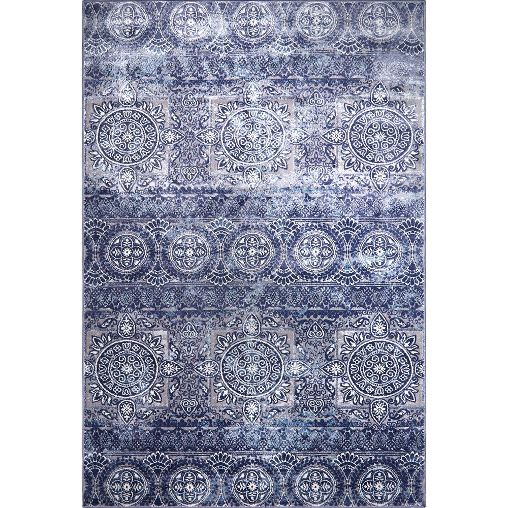 Home Dynamix Bazaar Crystal Blue 7 Ft 10 In X 10 Ft 2 In
