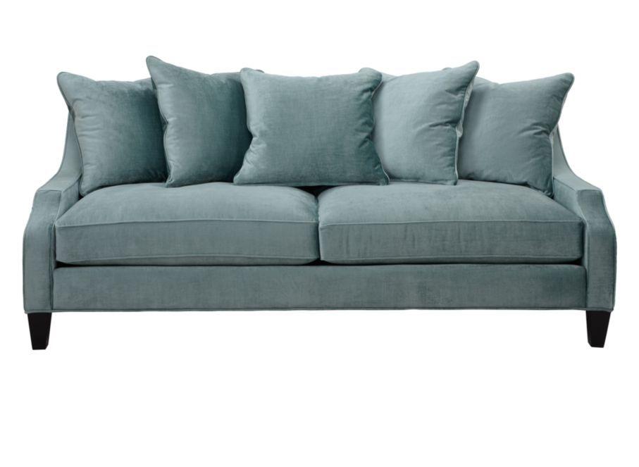 Brighton sofa aquamarine sofas furniture z for Z gallerie sectional sofa