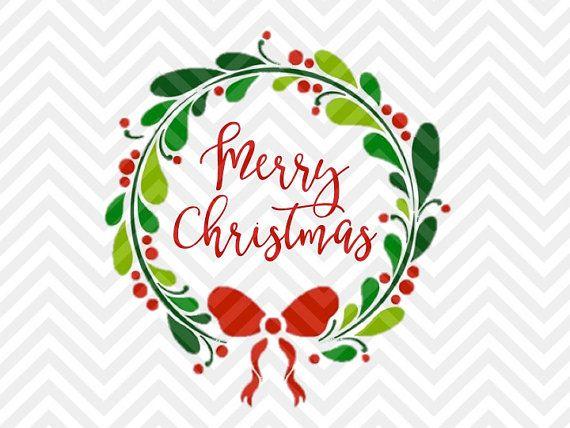 Feliz Navidad Guirnalda Laurel SVG Y DXF Por