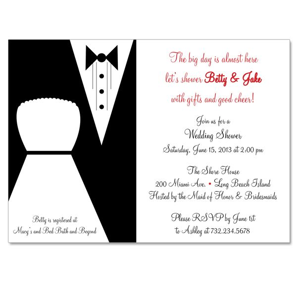 groom at bridal shower bride and groom custom bridal shower invitation on luulla