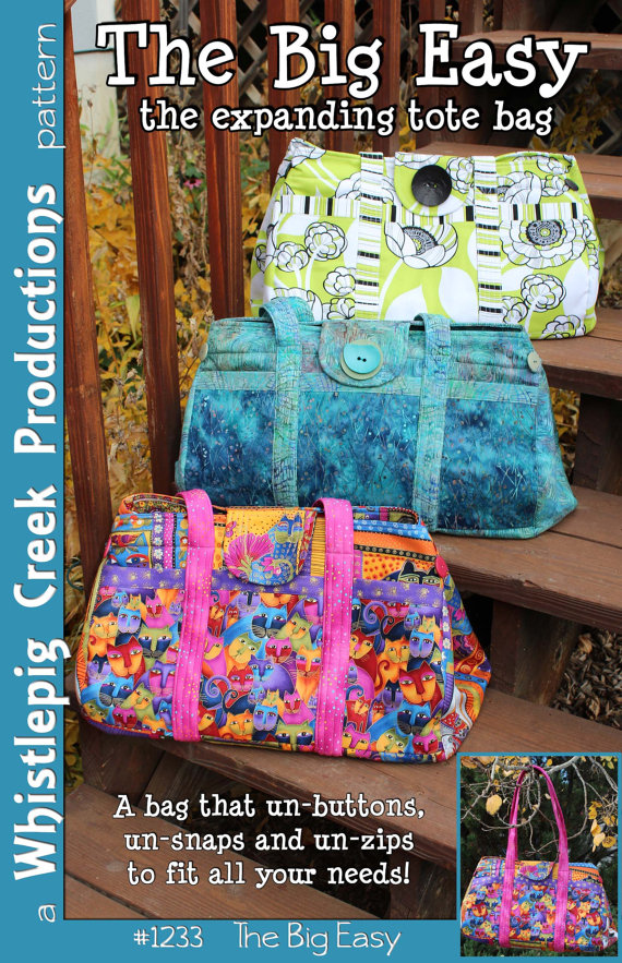 PDF - The Big Easy Expanding Tote Sewing Pattern | Bags - Totes ...