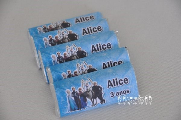 Chocolate personalizado - Frozen  :: flavoli.net - Papelaria Personalizada :: Contato: (21) 98-836-0113 vendas@flavoli.net