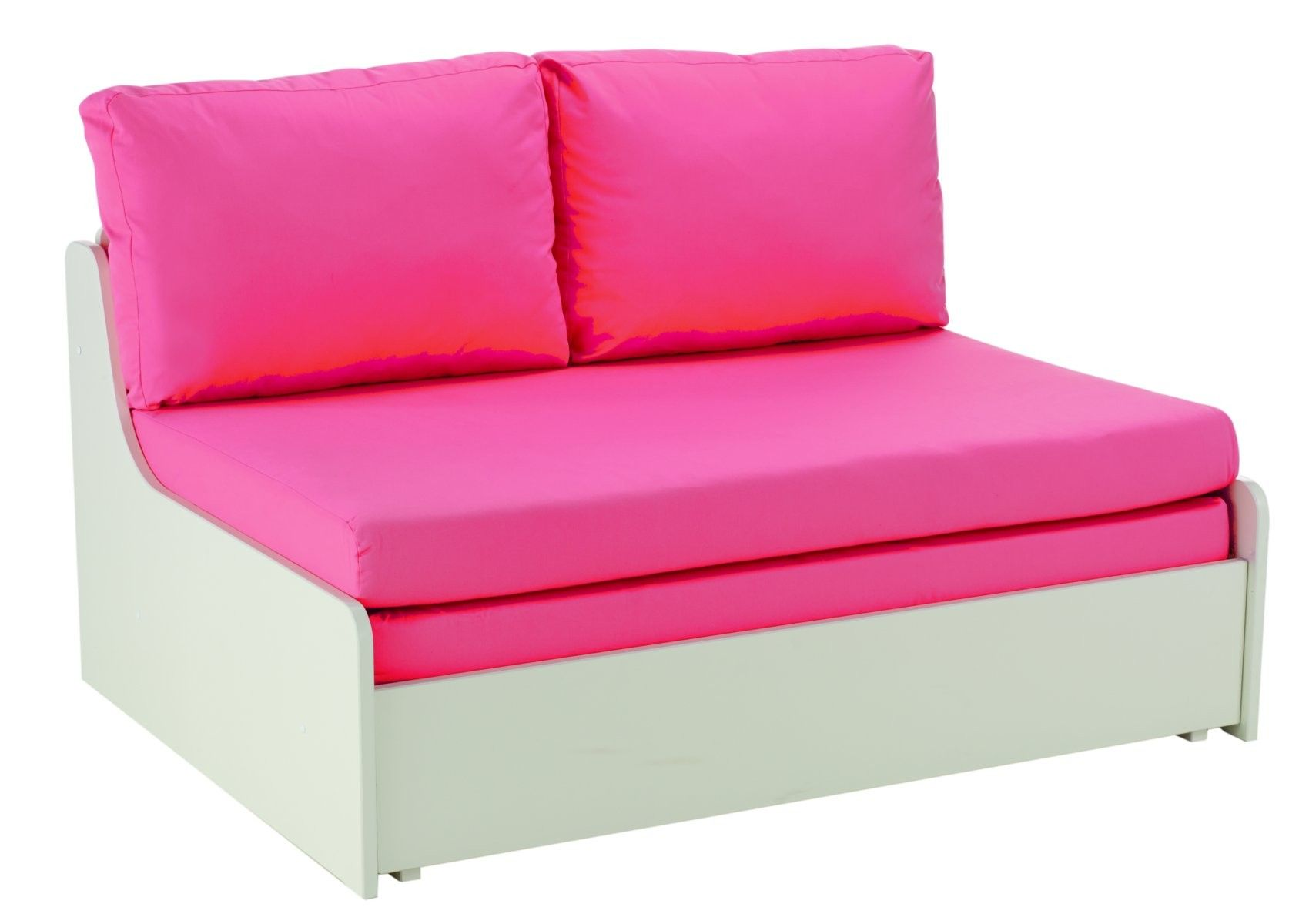 This Pink Futon Style Sofa Bed Is A Perfect Addition To Your Child S Room Offering A Clever Sleep Over Solution This S Pink Sofa Bed Double Sofa Bed Sofa Bed