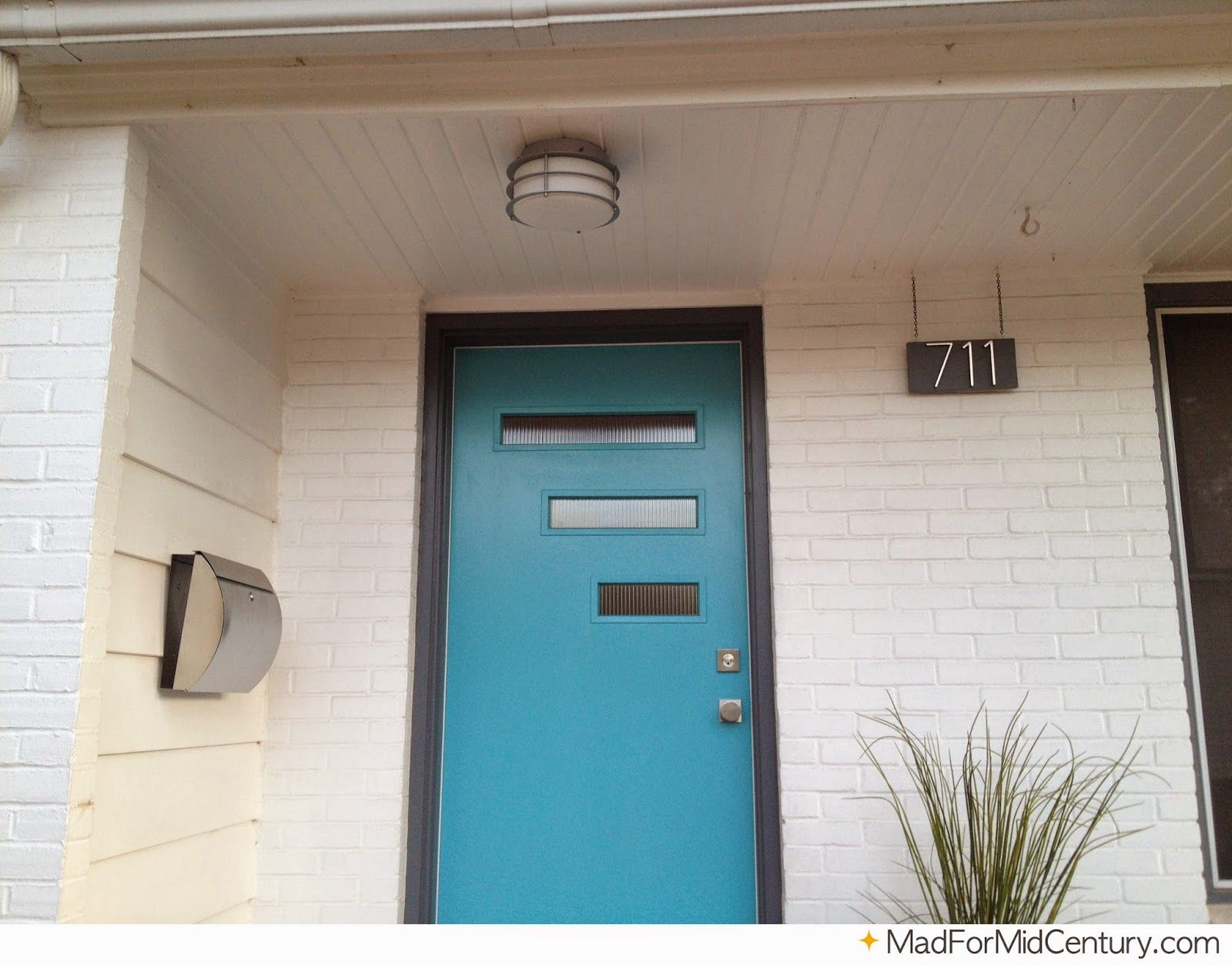 Our Mid-Century Modern Porch Light and Door | Mid-Century ...