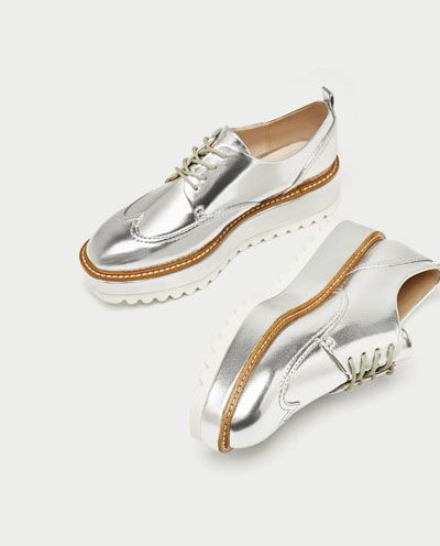 aad499514c7 BLUCHER PISO TRACK PLATEADO-Zapatos planos-ZAPATOS-MUJER