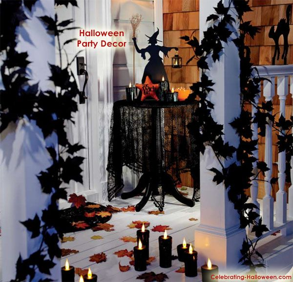 Black and Scary Halloween Party Decoration Ideas - halloween party decoration ideas