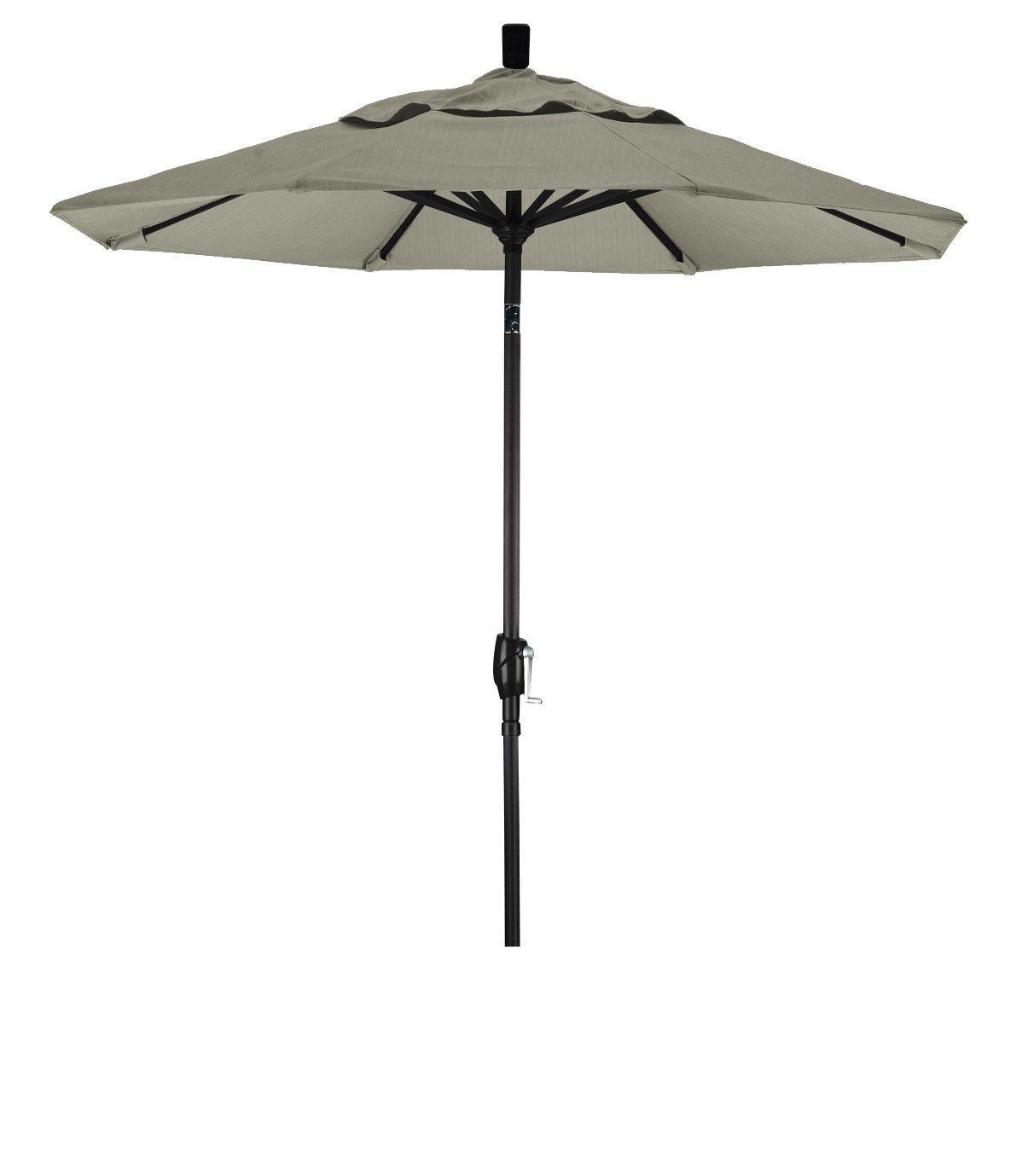 Eclipse Collection 7.5' Aluminum Market Umbrella Push Tilt M Black/Pacifica/Taupe