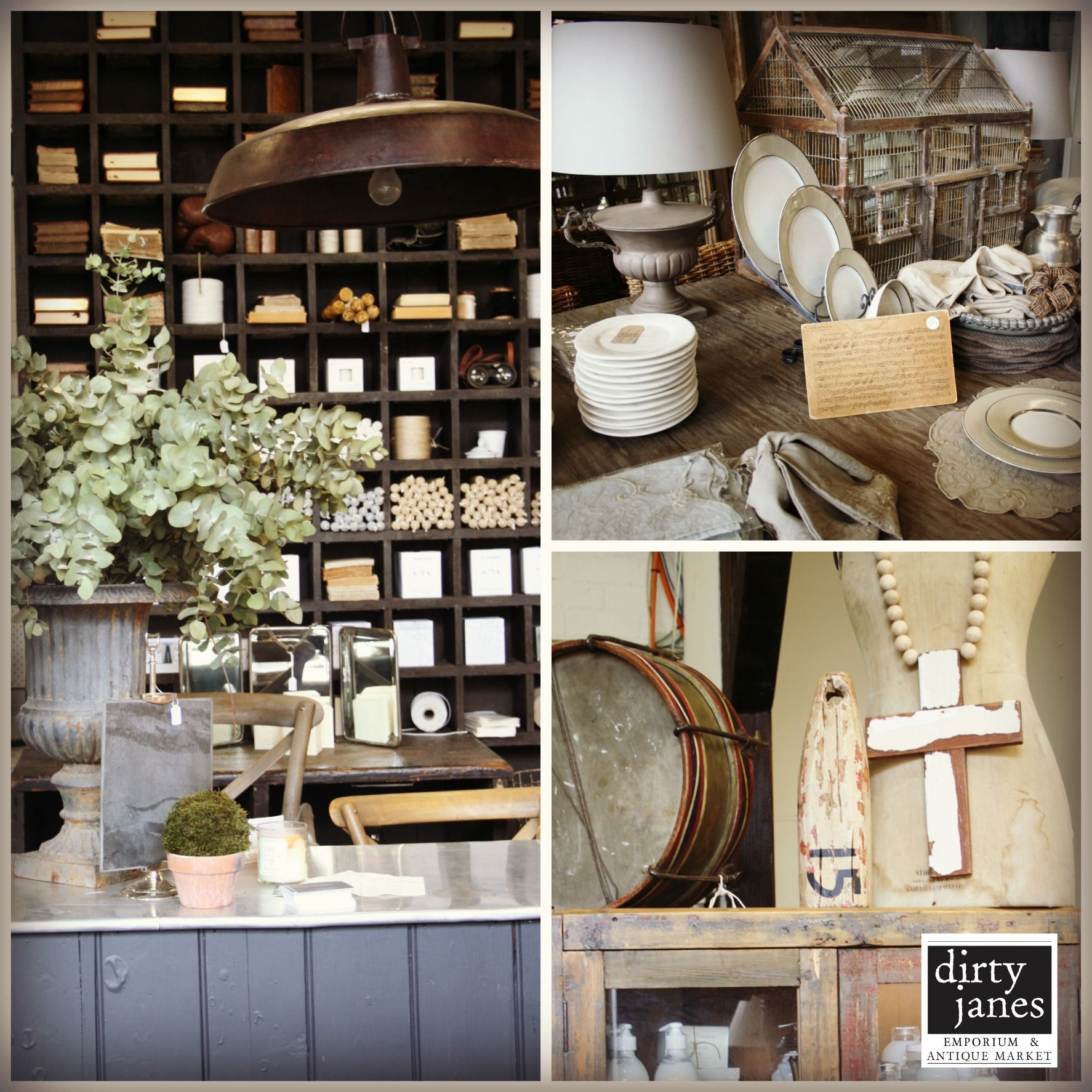 French Country Vignette - a must visit at Dirty Janes Emporium