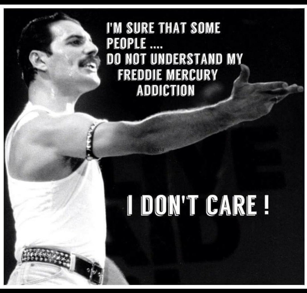 I'm sure that some people do not understand my Freddie Mercury addiction... I don't care! #freddiemercuryquotes