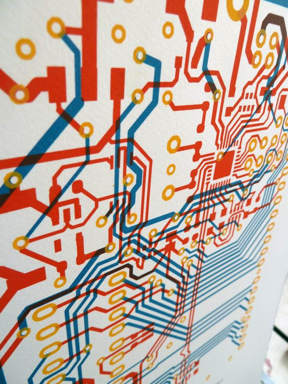 Circuit board screen print - Arduino Uno - limited edition on Etsy, $30.00