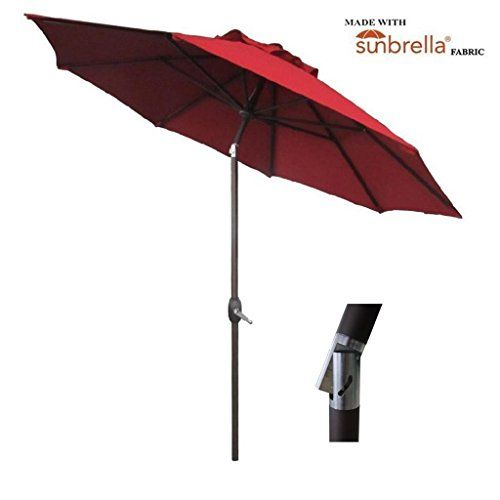 Abba Patio 9 Ft Fade Resistant Sunbrella Fabric Patio Umbrella with Auto Tilt and Crank  sc 1 st  Pinterest : fade resistant patio umbrella - thejasonspencertrust.org