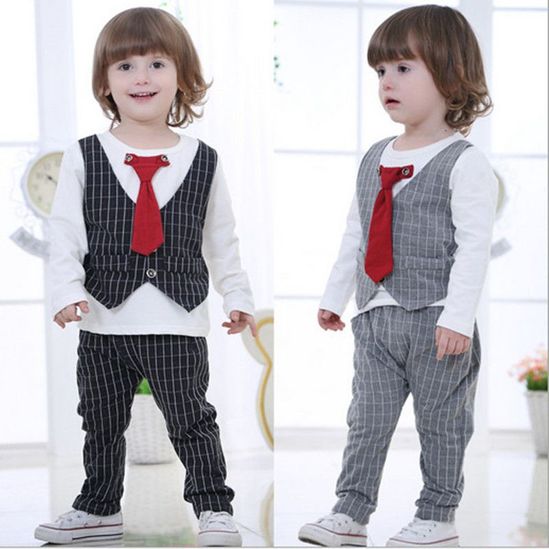 New Spring Baby Boys Clothes Gentleman Suit Baby Boy Clothes Set ...