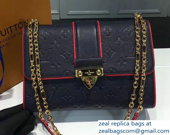 97890c877857 Louis Vuitton Monogram Empreinte Saint Sulpice PM Bag M43394 Marine Rouge  2017