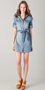 Leave it to Tory Burch to do a denim dress right. Haven't worn one since the 80's! So cute
