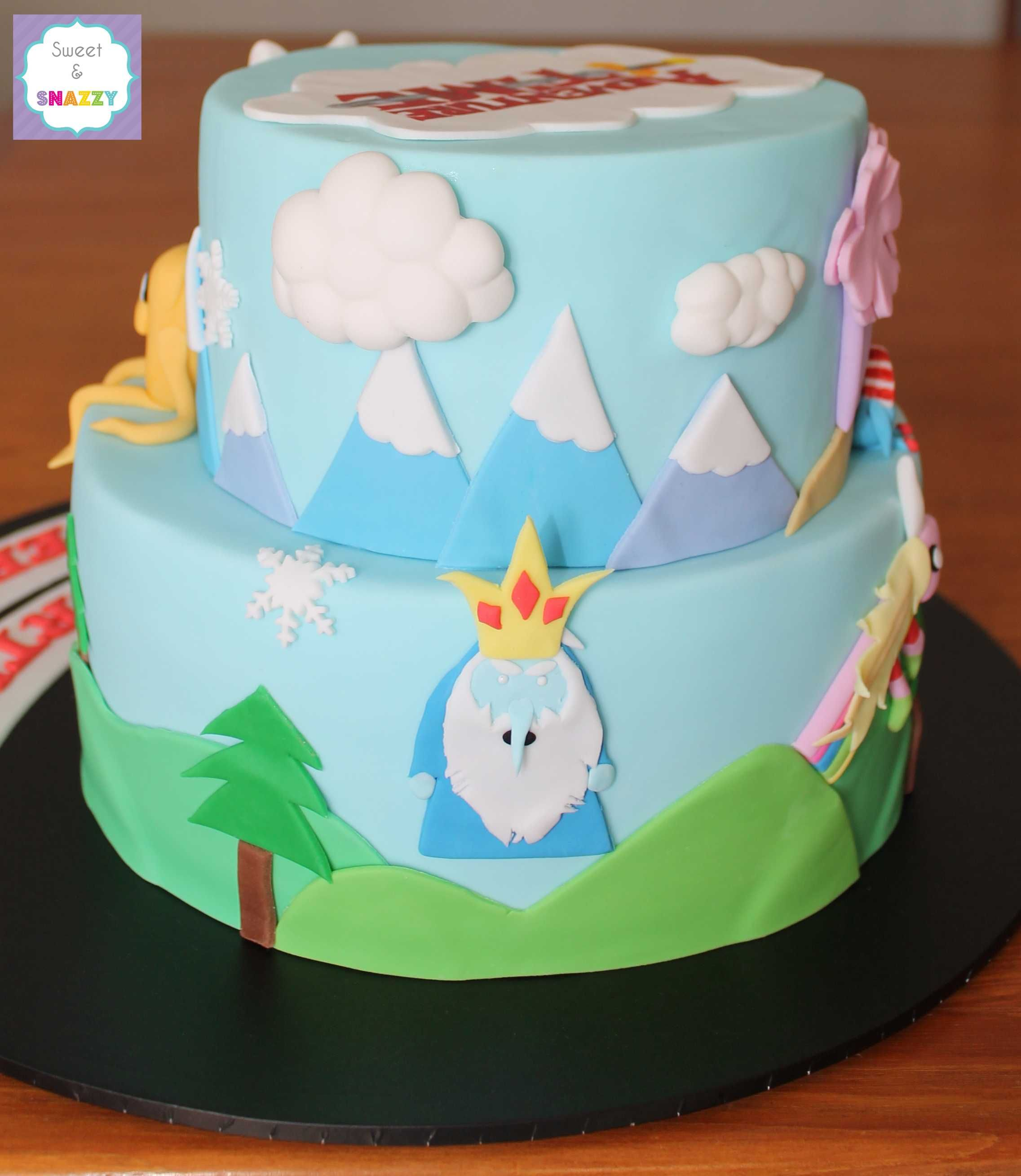 Adventure Time Cake By Sweet Snazzy Side View Httpswww