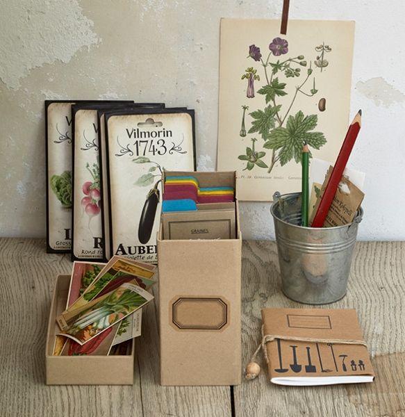 sachets de graines kraft semis pinterest sachets de graines boite de rangement et. Black Bedroom Furniture Sets. Home Design Ideas