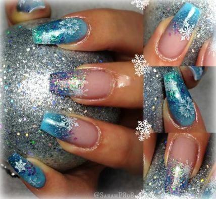 nails winter acrylic ballerina 47 ideas  winter nails