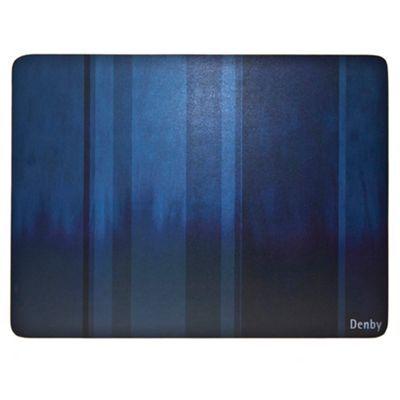 denby set of four blue placemats debenhams home. Black Bedroom Furniture Sets. Home Design Ideas