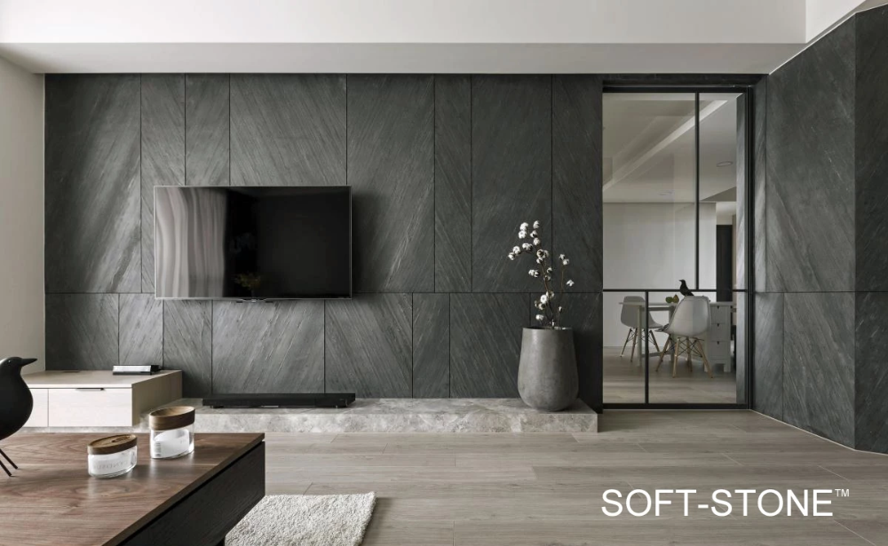 Grey Stone Tv Feature Wall Design Gallery