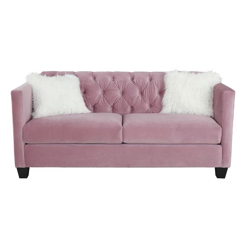 House Of Hampton Alissa Sofa Reviews Wayfair Sofa Classic Chesterfield Sofa Pink Couch