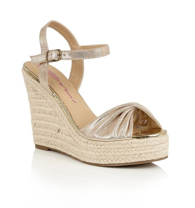 9cf90f2e030 These ladies  wedged heels from Dolcis boast a raffia style heel with  rubber sole