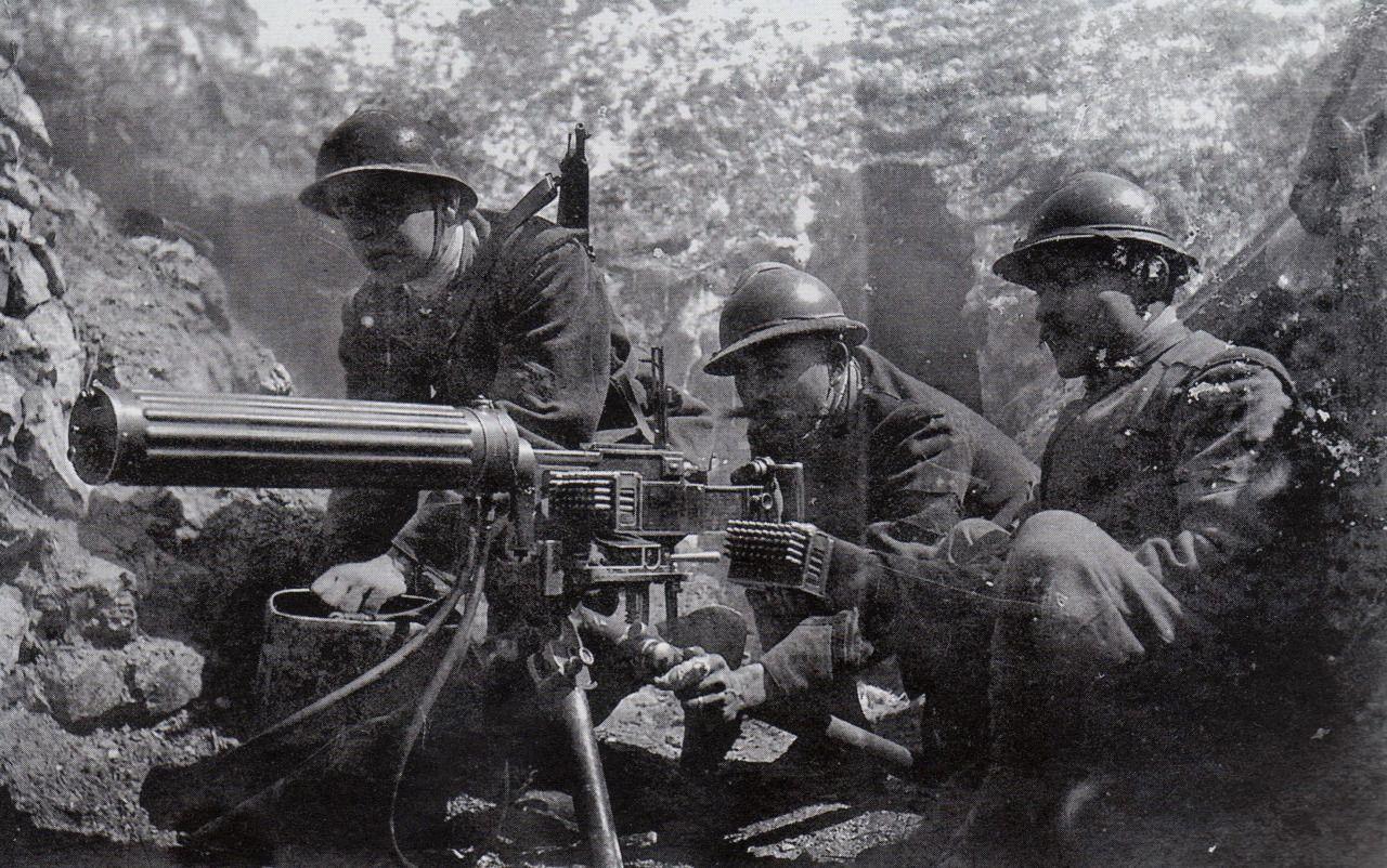 An italian fiat machine gun team world war i pinterest wwi an italian fiat machine gun team sciox Images