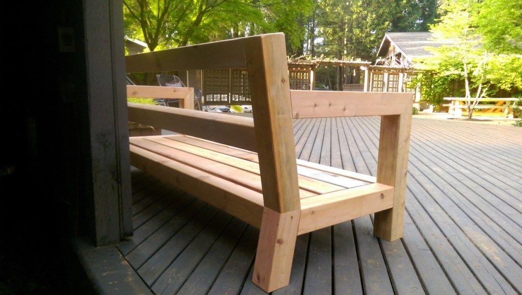 diy modern rustic outdoor sofa