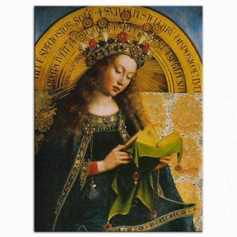 Jan van Eyck pendant Virgin mary reading a book   Ghent