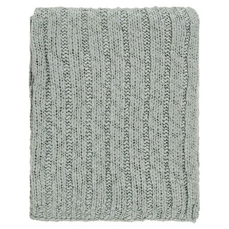 Cuddle up with this cozy throw for family movie nights or quiet evenings at home. Featuring a ribbed design and knitted texture, this classic piece is equall...