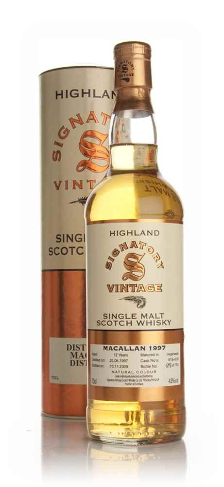 Macallan 12 Year Old 1997 Signatory Macallan Whisky Malt Whisky Whiskey Brands