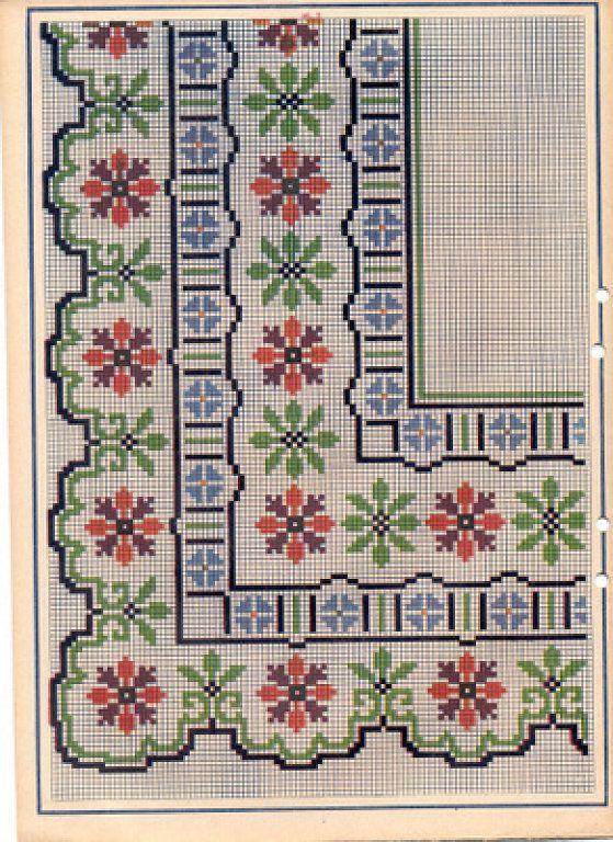Image result for ramos rosas grandes para punto de cruz | Embroidery ...
