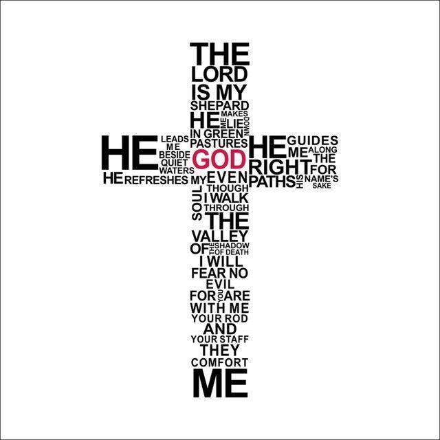 Jesus Wall Art cartoon typography christian god cross wall art sticker decal