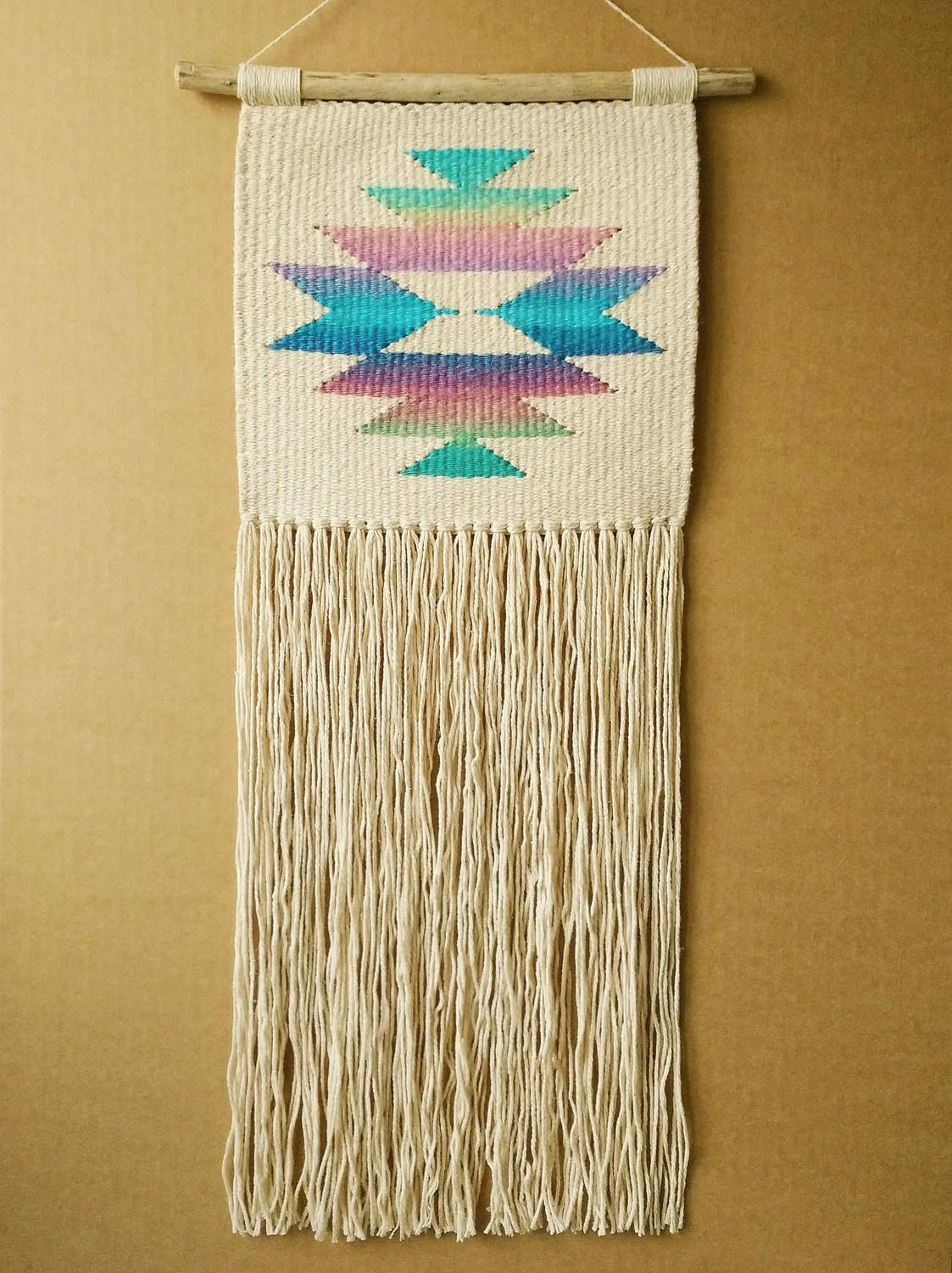 XXL Holographic Hand Woven Star Weaving and Macrame Wall Hanging ...