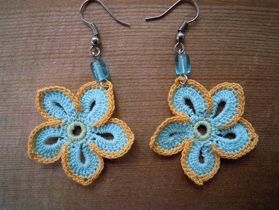 Crochet Flower Earrings Pinterest Crochet Earrings Pattern