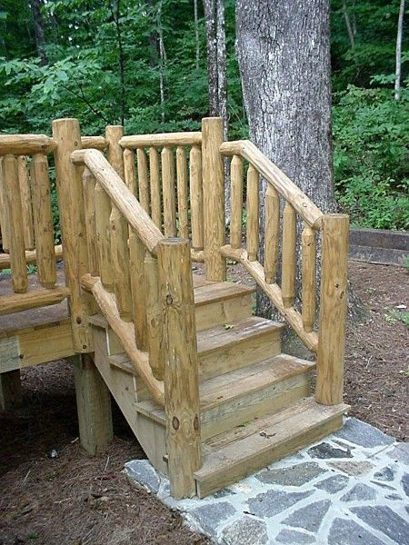 Outdoor Rustic Railing Made Of Pine And Hand Peeled From