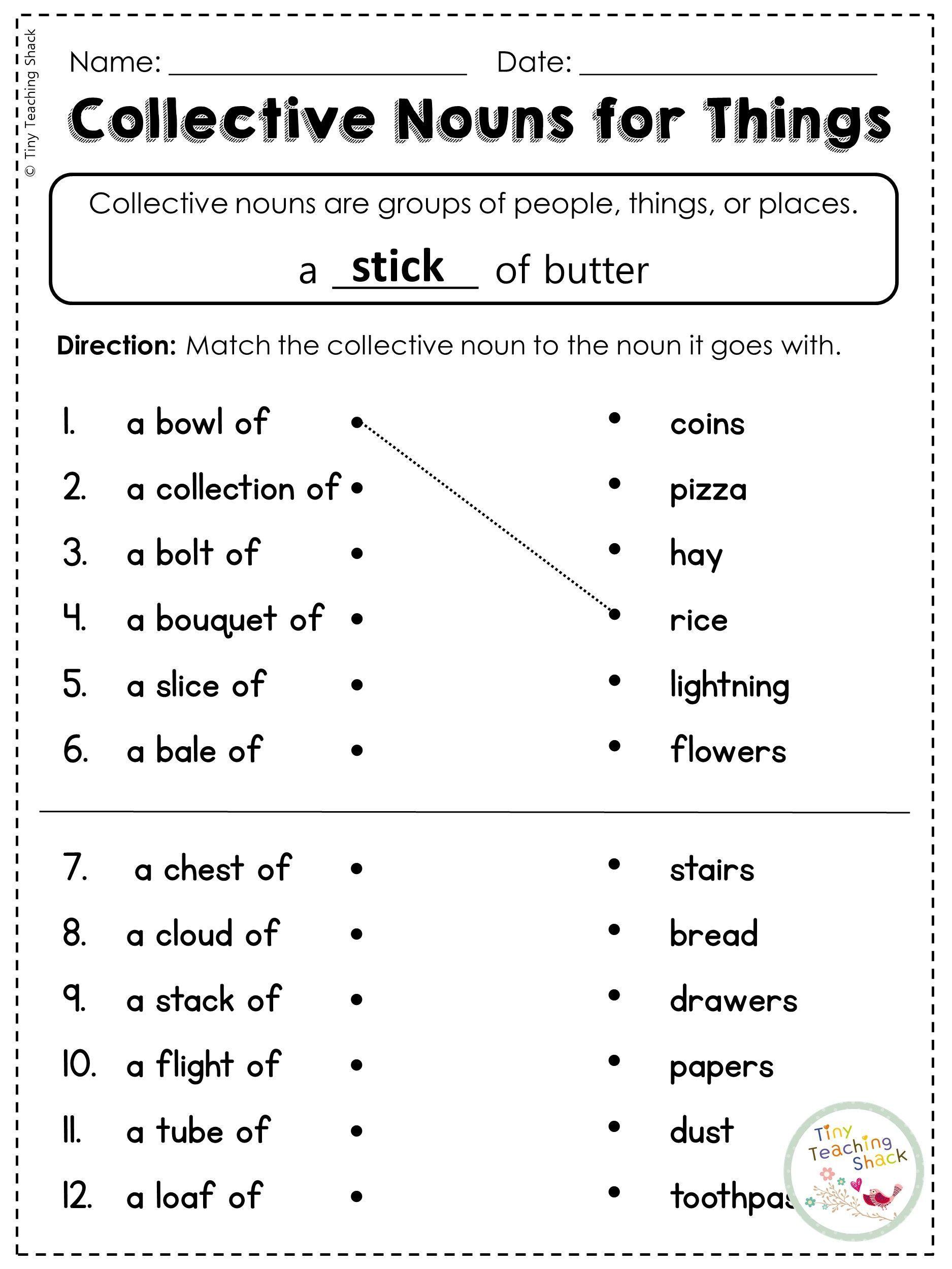 Collective Nouns Worksheet 10 Vocabulary Worksheets Collective Nouns Worksheet Nouns Worksheet Third Grade Grammar Worksheets
