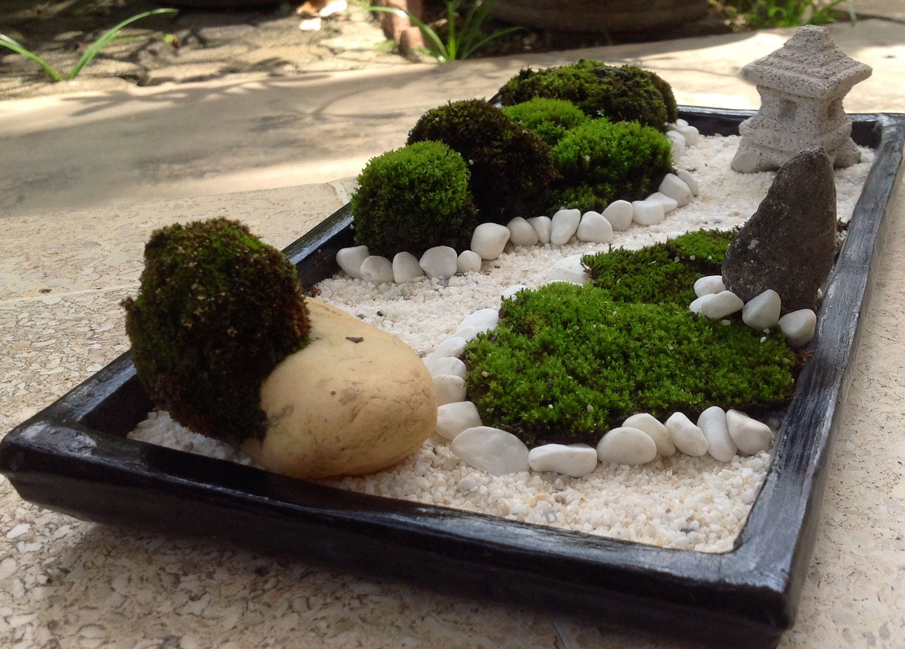 zen garten mini miniature zen garden for relaxing small. Black Bedroom Furniture Sets. Home Design Ideas