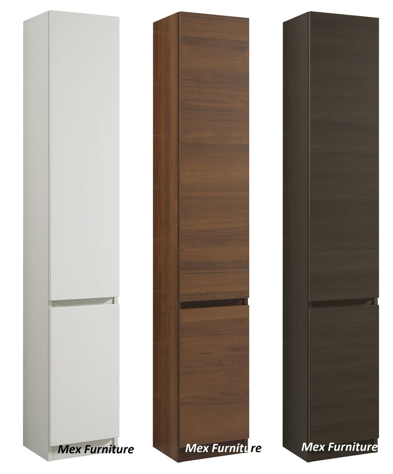 Tall bathroom storage cabinets - Modern 175cm Tall Bathroom Storage Cabinet Matt Finish 2 Doors