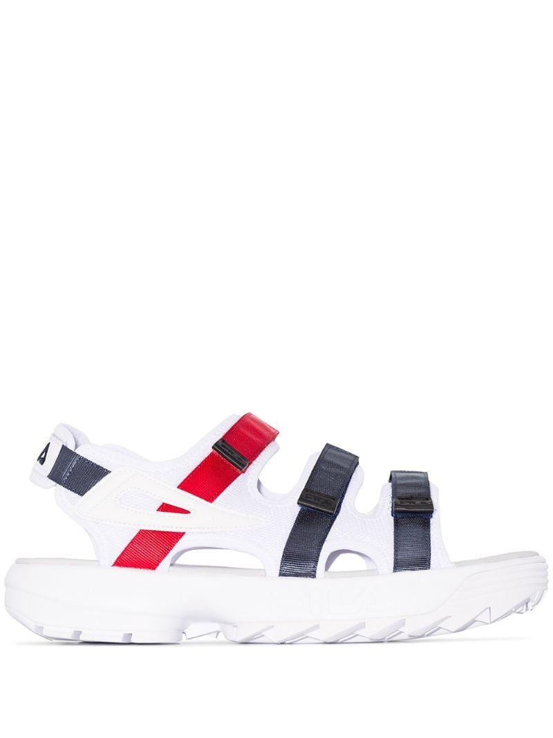 Fila Disruptor Strappy Sandals | White strappy sandals, Fila