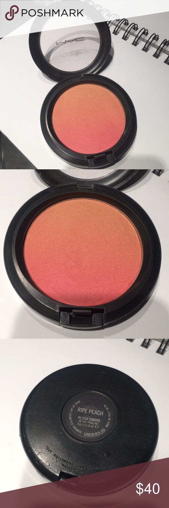 MAC Blush Ombré in Ripe Peach Limited edition, used a few