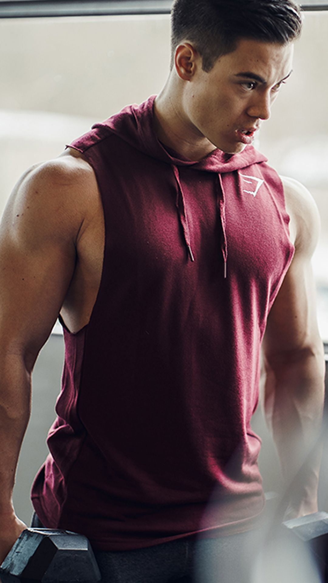 2738602473 Unleash your inner beast. Add the Drop Arm Sleeveless Hoodie to your ...