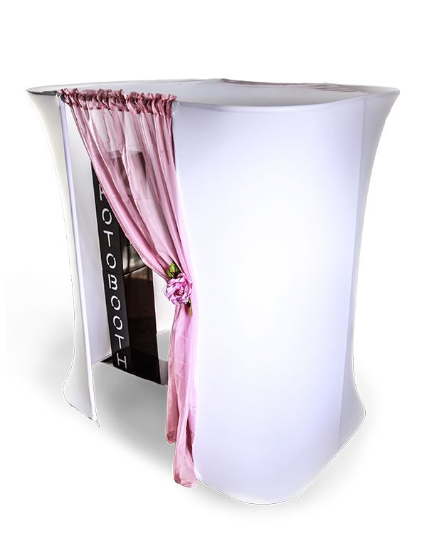 need some privacy try a photo booth enclosure wedding photo