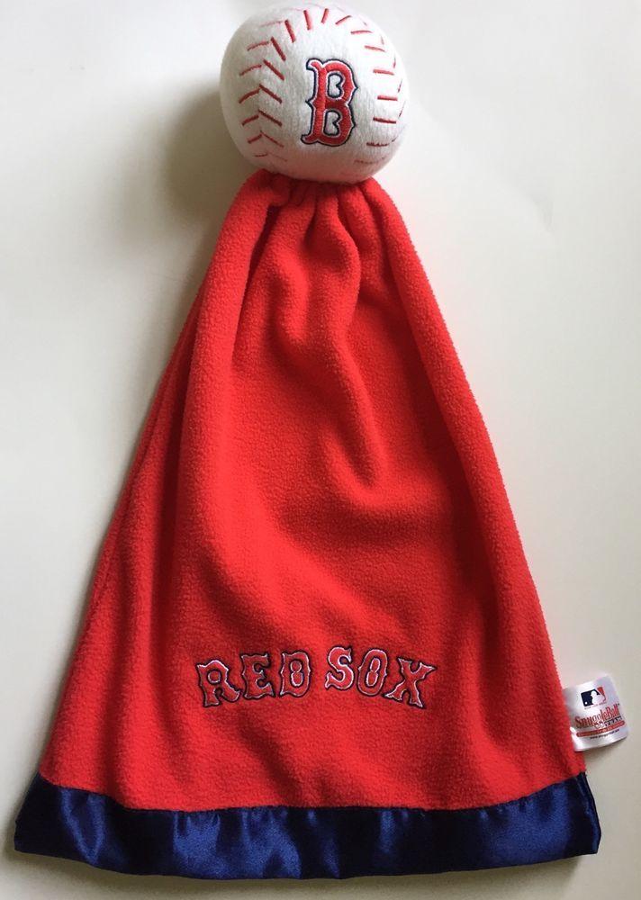 SnuggleBall Team Boston Red Sox Baseball Security Blanket Baby Lovey Fleece