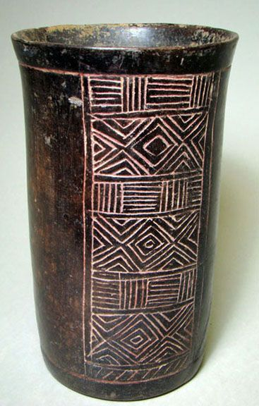 This Is A Mayan Artifact What Looks A Vase With Hierographs All